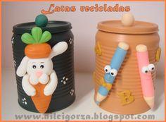 Nilci arts em biscuit: Latas recicladas