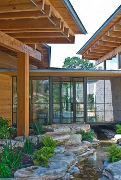Lake Travis Breakwater Stone House by Mell Lawrence Architects