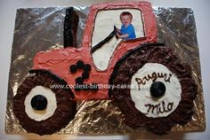 cool tractor cakes | Cool tractor cake | Will's Tractor Party