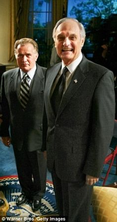 Alan Alda with Martin Sheen in The West Wing