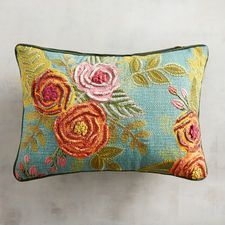 Discover unique patterned pillows and other decorative accent pillows at Pier 1 Imports. Shop an array of floral, striped, geometric, animal print and more today! Brazilian Embroidery Stitches, Ribbon Embroidery, Embroidery Art, High Back Accent Chairs, Big Comfy Chair, Small Living Room Chairs, Living Rooms, Scandinavian Dining Chairs, Natural Cushions
