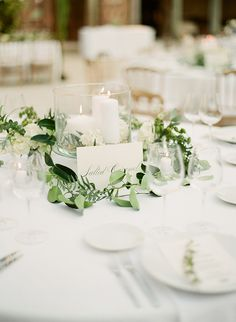 white wedding ideas - photo by Greg Finck http://ruffledblog.com/must-see-sophisticated-chateau-wedding-in-cannes
