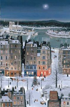 Michel Delacroix. Winter Painting ~ Blog of an Art Admirer
