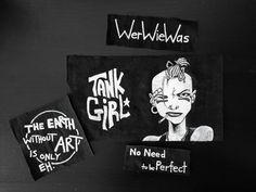 Tank Girl, Art Portfolio, Patches, My Arts, Textiles, Create, Instagram, Cloths, Textile Art