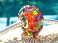 TROPICAL OPAL SPRITE Fully Lined Sterling Silver by beachlifebeads, $30.00