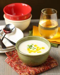 Cauliflower Bisque - Garnish with Lemon