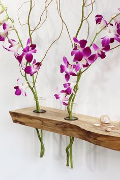 Floating shelf, altar, vases, Ming Tang, Feng Shui, side table, live edge, wood slab, small furniture, spa, yoga, mala beads, meditation by PetrichorWoodDesign on Etsy