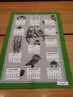 Un calendrier avec les hiboux