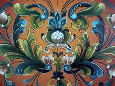 Rosemaling is a Norwegian folk art for painting flowers. Description from pinterest.com. I searched for this on bing.com/images