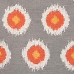 Ikat Domino Chili Pepper/Slub by Premier Prints - Drapery Fabric - Fabric By The Yard