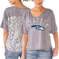ce3e3ec35c5 Seattle Seahawks Touch by Alyssa Milano Women s Scrimmage T-Shirt - Gray