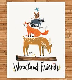 Woodland Animal Art Print | You don't have to be a fairy to spend time with woodland creat... | Posters