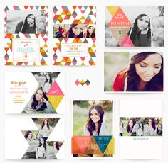Geometric Soiree 5x7 WHCC Grad Cards