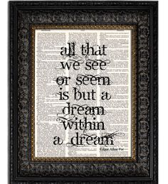 A dream within a dream - one of the poems by Edgar Allen Poe that helped inspire Inception! X)