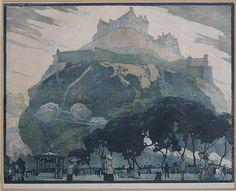 Émile Antoine Verpilleux, Edinburgh Castle, signed and dated 1913