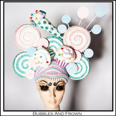 Sweet at Heart. Candy Themed Headdress by BubblesAndFrown on Etsy