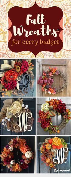 Here are my favorite 10 Fabulous Fall Wreaths that I hope will inspired you to add a little fall decor to your home.