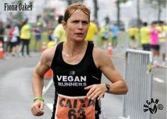 Fiona Oakes, atleta olímpica maratón y ciclismo. Vegana.