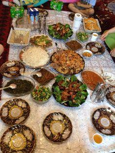 afghani sofrah that Marium and Rasheed ate on