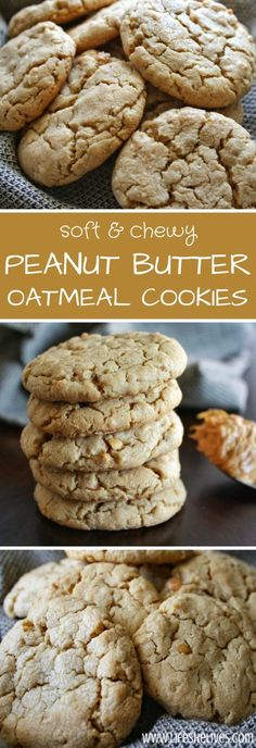 Peanut butter oatmeal cookies are a super fast and easy way to whip up a treat that tastes like you spent a ton of time baking. Peanut butter oatmeal cookies are a super fast and easy way to whip up a treat that tastes like you spent a ton of time baking. Peanut Butter Oatmeal, Peanut Butter Recipes, Oat Peanut Butter Cookies, Almond Butter, Almond Flour, Crinkle Cookies, Oatmeal Cookies, Oatmeal Bars, Chip Cookies
