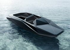 Image 1 of 2 from gallery of Zaha Hadid designs Z Boat for American Art Dealer. Courtesy of Zaha Hadid Architects/ Kenny Schachter-ROVE Zaha Hadid Design, Architectes Zaha Hadid, Zaha Hadid Architects, Yacht Design, Boat Design, Design Transport, Boat Transport, Le Manoosh, Hymer