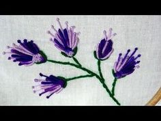 Hand Embroidery Designs | Fantasy flower design | Stitch and Flower-174 - YouTube