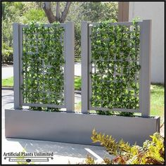 Miraculous Useful Tips: Small Artificial Plants Garden Design artificial plants indoor kitchens.Artificial Plants Diy How To Make artificial garden astroturf. Outdoor Privacy, Backyard Privacy, Backyard Landscaping, Outdoor Seating, Balcony Privacy, Backyard Ideas, Privacy Planter, Garden Ideas, Sloped Backyard