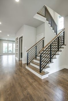 Love the color and banister