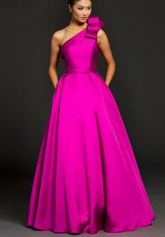 Cyclamen prom gown