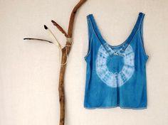 WATER NYMPH . women's tie dye top . plus size 24 por bohemianbabes