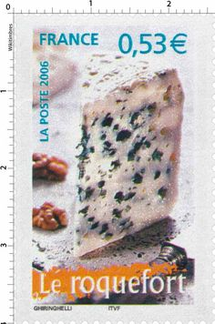 Sello: the Roquefort (Francia) (Portraits of regions Yt:FR Food Stamps, Postage Stamps, Collection, Seals, France, Places, Right Brain, Fine Dining, Pennies