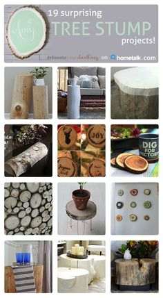 Tree Stump Upcycles :: Amy @ Delineate Your Dwelling's Clipboard On