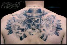 Skulls & Roses tattoo ink