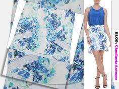 80 Modelos de Saias Feminina que Esta na Moda 2015 saia estampa em azul