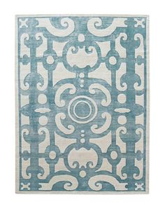 Michael Smith's bold graphic is based on a bird's-eye view of formal gardens. Hand-knotted wool, 6' × 9', $5,400. MANSOUR MODERN: 310-652-1121.    - HouseBeautiful.com