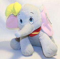 """Large DUMBO Stuffed Plush ELEPHANT Disney land Resort 16"""" Sitting"""