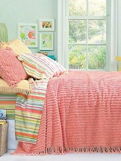 Chic Chenille Bedspread | LinenSource  for a beachside cottage look