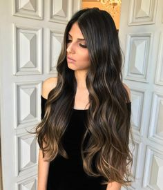 Hair color trends babylights for 2019 Cabelo Ombre Hair, Balayage Hair, Haircuts For Long Hair, Cool Hair Color, Brunette Hair, Dark Hair, Hair Looks, Pretty Hairstyles, Hair Inspiration