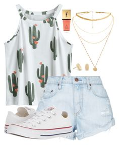"""""""summer"""" by randomness23 on Polyvore featuring Kendra Scott, Nobody Denim, Converse and Yves Saint Laurent"""