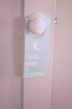 sleeping baby door hanger vital I would think! shhh mum finally snoozing so go away! Mom And Baby, Baby Love, Baby Baby, Baby Kids, Baby Sleeping Sign, Little Boy Quotes, Baby Door Hangers, Baby Boy Pictures, Baby Bedroom