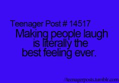 I feel like people laugh at me by the way I breath sometimes. People like me and I like that :)