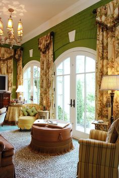 Southern Interior Design Window Treatments