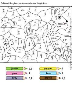 Color Subtraction Worksheet4