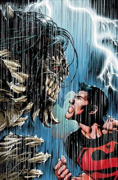 Superboy vs Doomsdayby Eddy Barrows