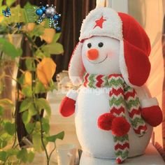 New Arrival Amazing Christmas Decorations Gift Hat Snowman Toy