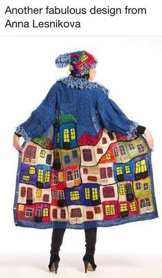 Gilet Crochet, Crochet Coat, Knitted Coat, Crochet Clothes, Crochet House, Knitting Projects, Crochet Projects, Knitting Patterns, Crochet Patterns