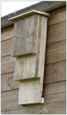 ♥ ~ ♥ Bat House ♥ ~ ♥ A Kent bat box, this has 3 slots instead of the usual one Bat House Plans, Bird House Kits, Bat Box Plans, Garden Projects, Wood Projects, Terrasse Design, Bug Hotel, Bird Houses Diy, Bird Boxes