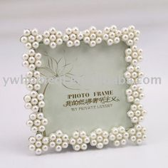 pearl picture frame to hold table numbers