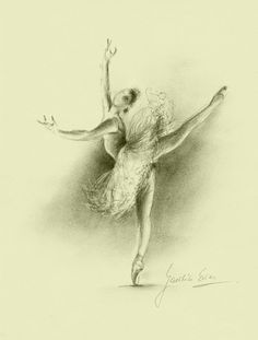 Limited Edition 8 x 12 print on CREAM PAPER of original pencil drawing by Ewa Gawlik (2/100).