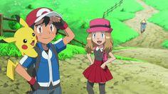 Anime Screencap and Image For Pokemon: XY Pokemon Ash And Serena, Ash Pokemon, Pokemon Comics, Pikachu, Ashes Love, Facing Fear, Cute Pokemon Pictures, Mega Evolution, Ash Ketchum